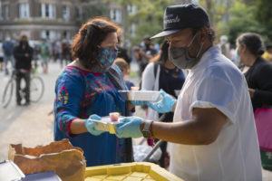 Grubhub's Work with the Tacombi Community Kitchen