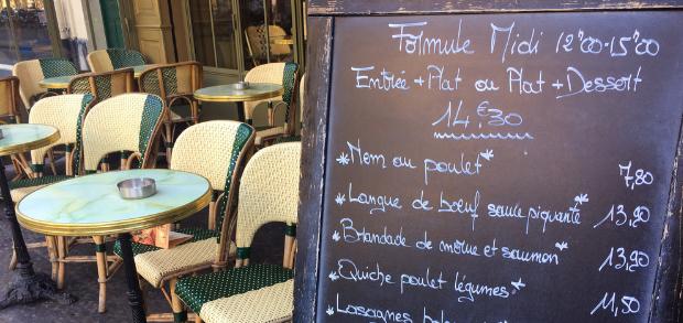 a restaurant menu board with optimized menu descriptions