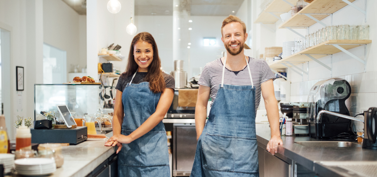 employees who are happy because their employer found ways to minimizing restaurant employee turnover