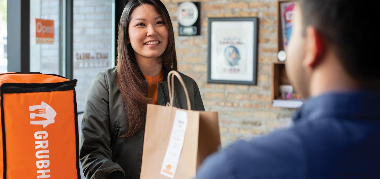 Grubhub food delivery app transaction