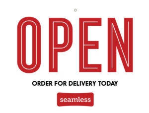 Seamless open for delivery sign
