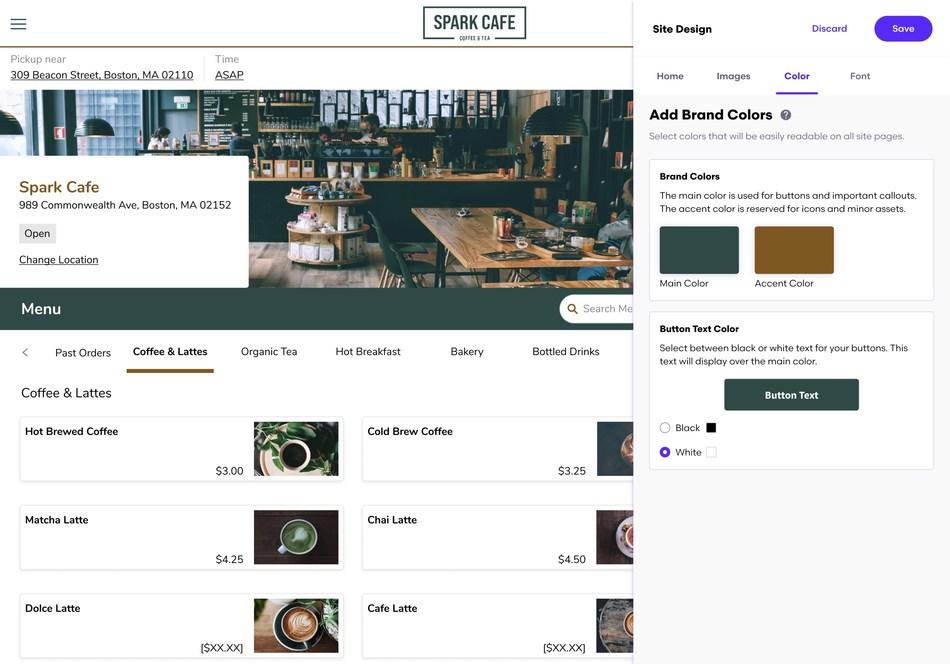 Grubhub Direct online ordering example