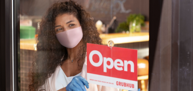 a restaurant owner ready to accept Grubhub orders