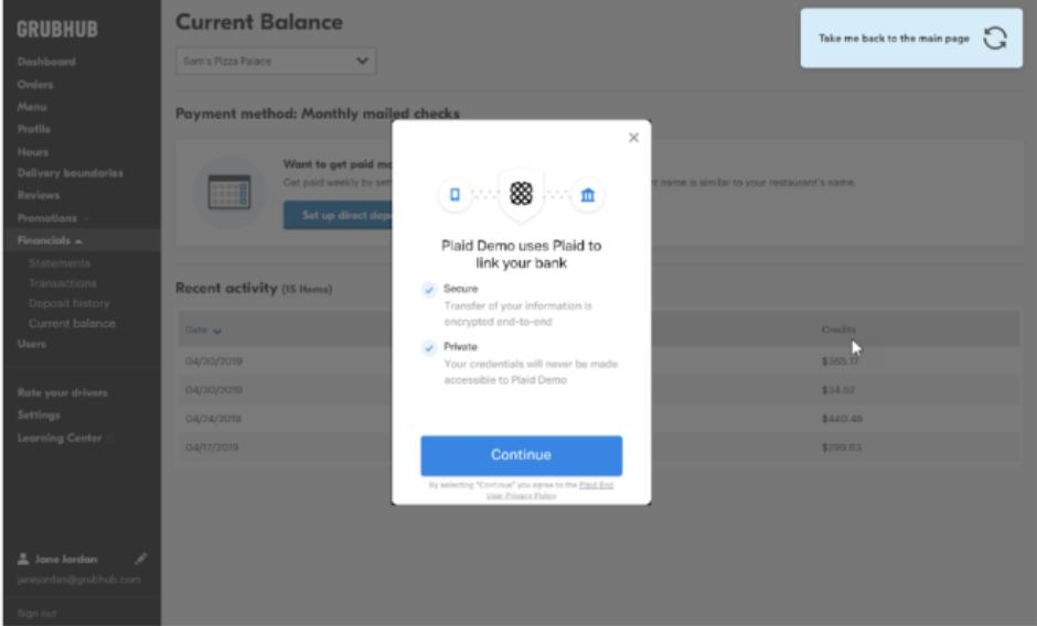 bank confirmation screenshot