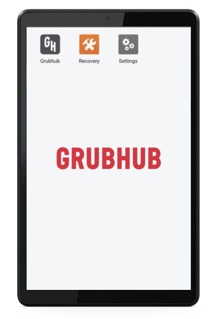 screenshot of a Grubhub tablet