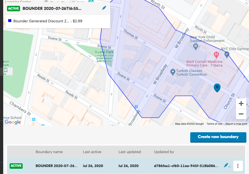 screenshot of how to add additional delivery boundaries