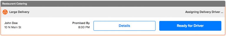 screenshot of scheduled orders on Grubhub for Restaurants