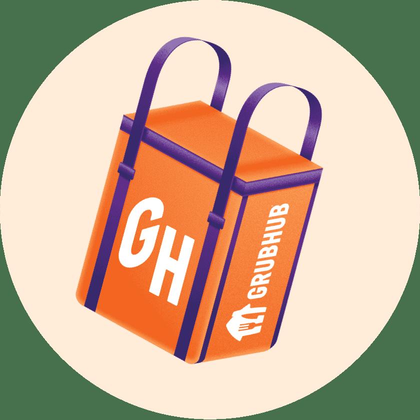Grubhub delivery bag icon