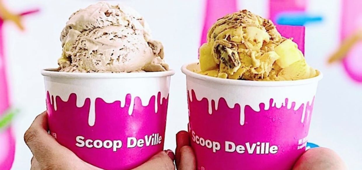 Image of ice cream from Scoop DeVille, a Philly restaurant that uses Grubhub Delivery