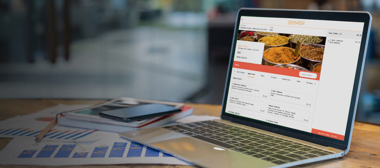 image of a restaurant's online ordering system built out on Grubhub Direct