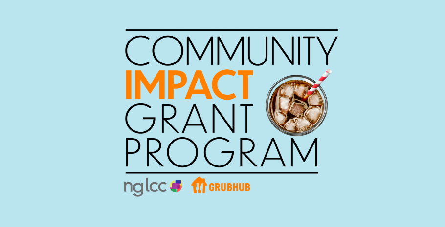 Community impact Grant program logo from NGLCC and Grubhub