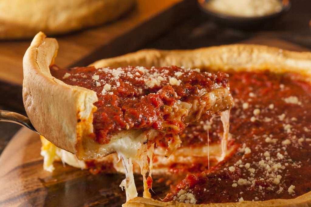 Deep Dish Pizza, Pizza, Cheese