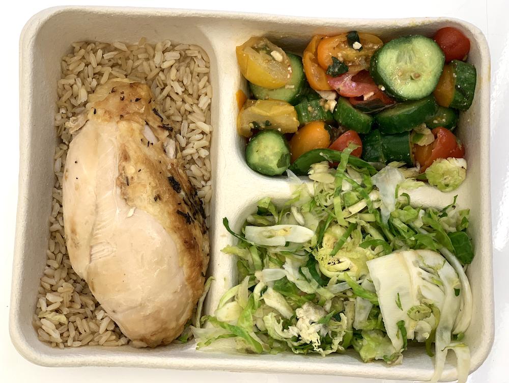 Grilled Chicken, Vegetables